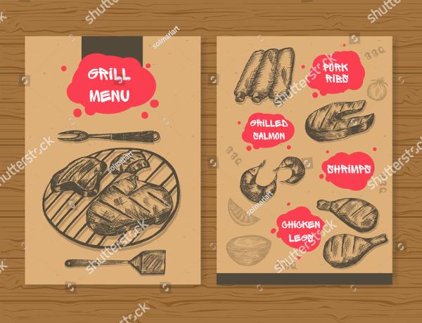 Ready BBQ Print Menu Template