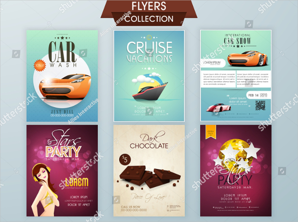 Stylish Car Show Collection Flyers