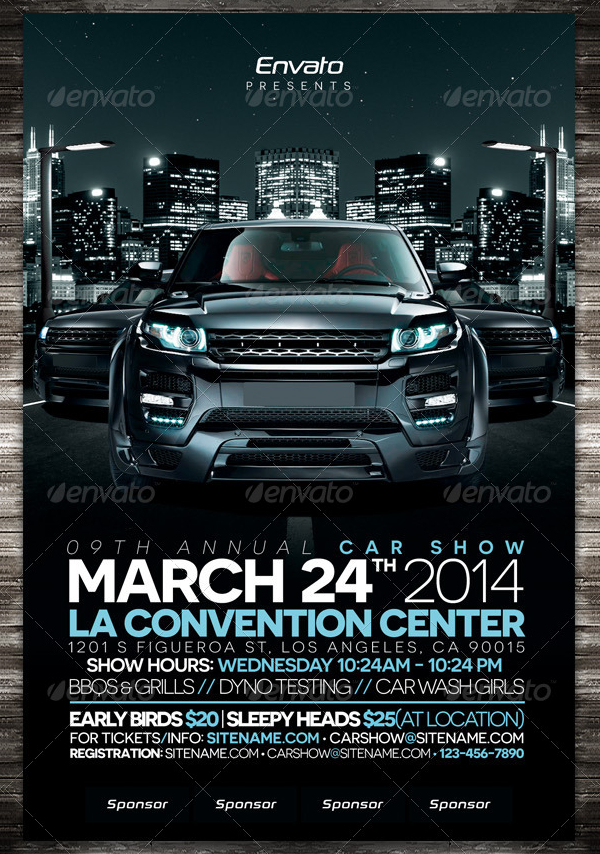 19  car show flyer templates