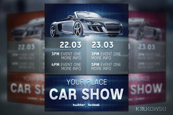 Simple Car Show Poster or Flyer Template