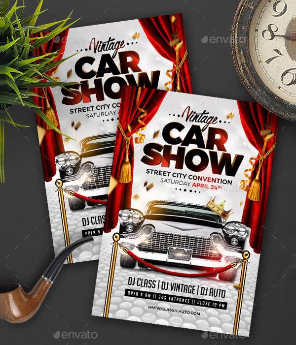 Car Show Vintage Flyer Template