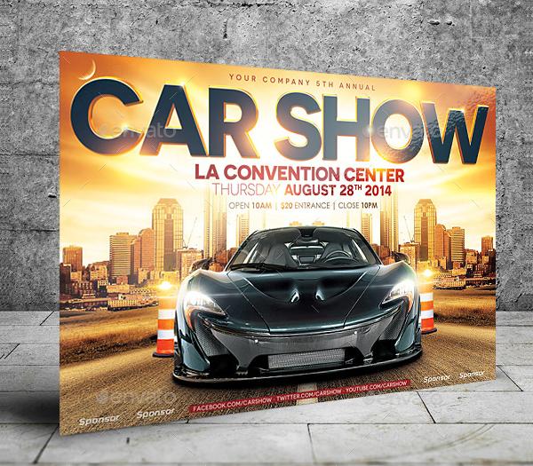 Car Show Convention Center Flyer