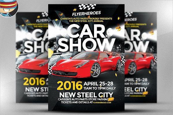 Best Car Show Design Flyer Template
