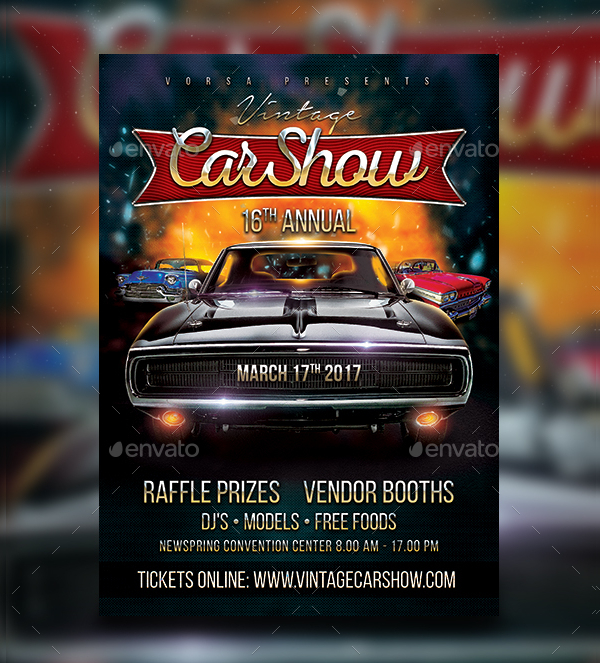 19 car show flyer free premium psd ai vector eps downloads