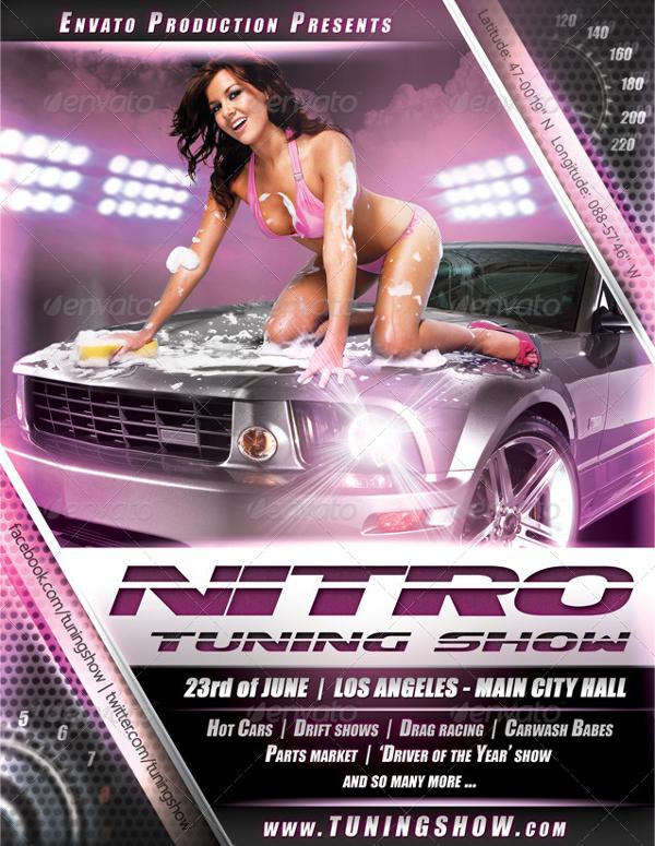 Nitro Tuning Car Show Design Flyer