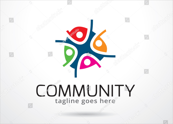 Community Logo Template Design Vector