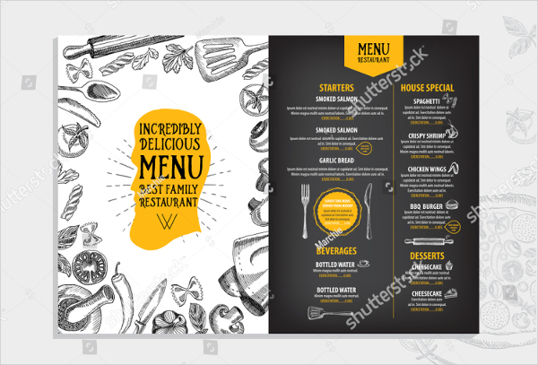 Delicious BBQ Menu Design Templates