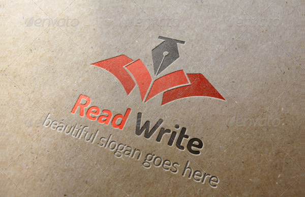 Institute Red Write Logo Template