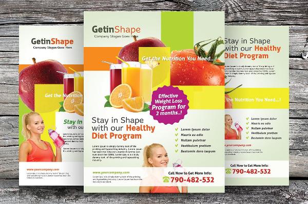 Health Diet Program Flyers