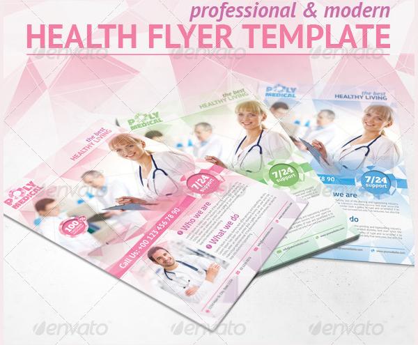 Health Polygon design Flyer Template