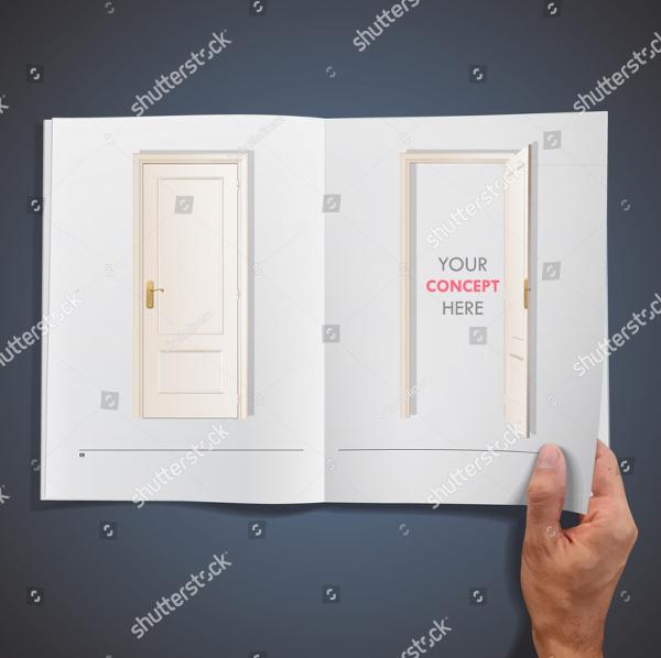 Interior Vector Design Brochure Templates