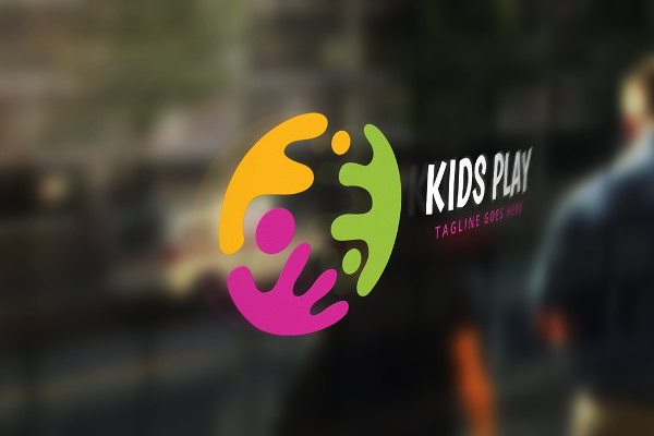 Kids Play Logo Template