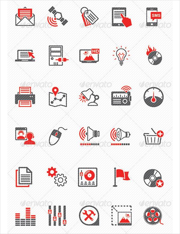 Media Marketing Icon Pack