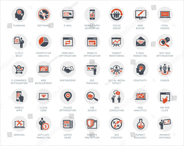 Perfect Media Advertising Icons