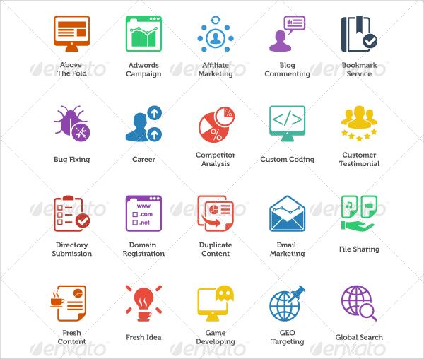 Fresh Internet Marketing & SEO Icons