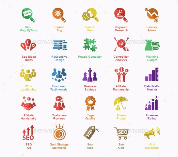 70 SEO & Internet Marketing Icon Collection