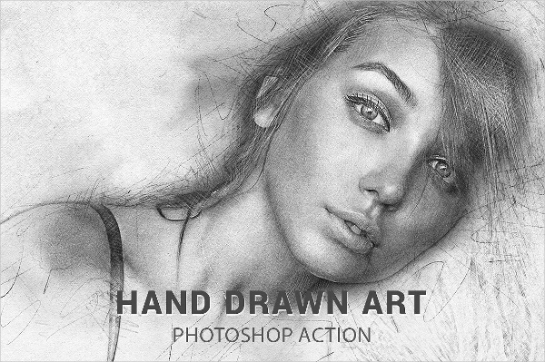 Perfect pencil drawing photoshop actions