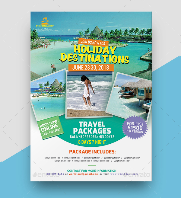 Christmas Travel Package Deals: 18+ Travel Agency Flyer Templates