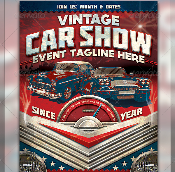 Car Show Flyer Templates  Free  Premium Download