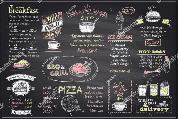 Blackboard Design Menu Template