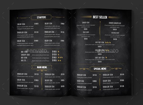 22  blackboard menu templates