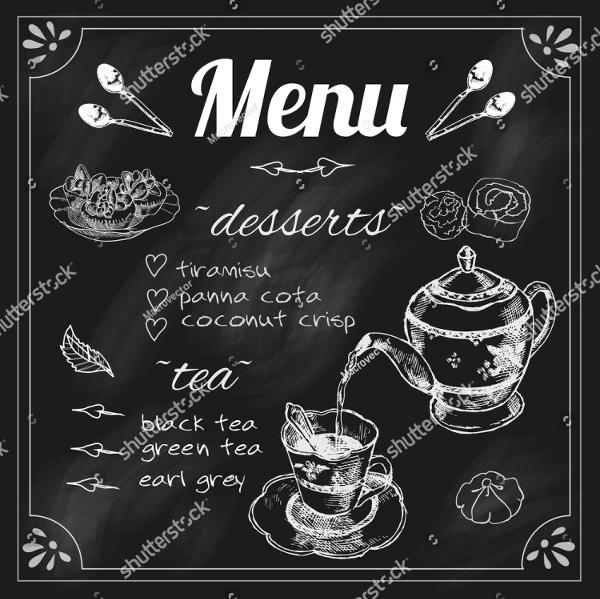 Blackboard Tea Menu Template