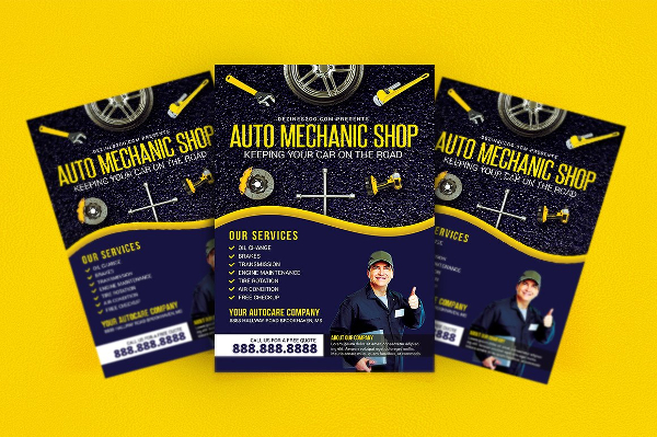 Car Mechanic Shop Flyer Template