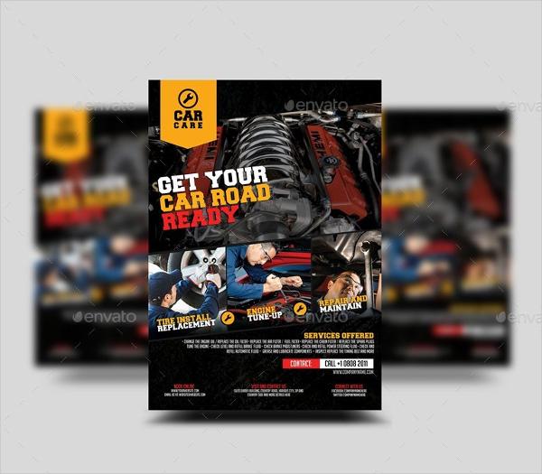 Car Repair Advertisement Flyer Template