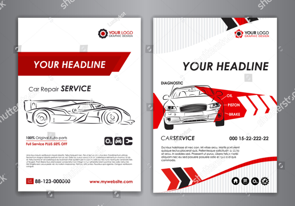 Car Repair Brochure And Flyer Template