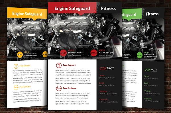 car repair business flyer template