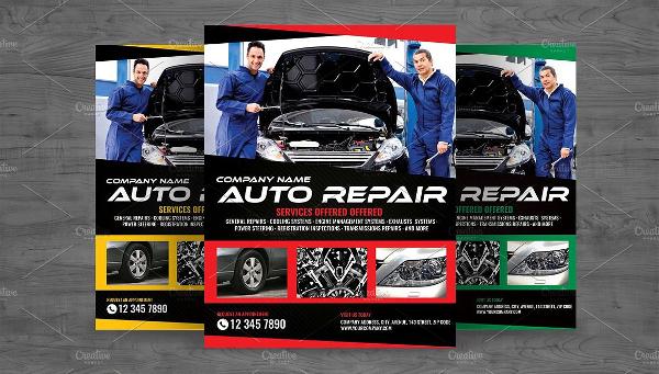 Car Repair Engine Flyer Template