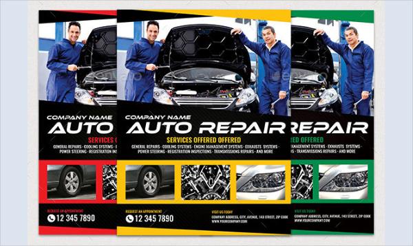 20  car repair flyer templates