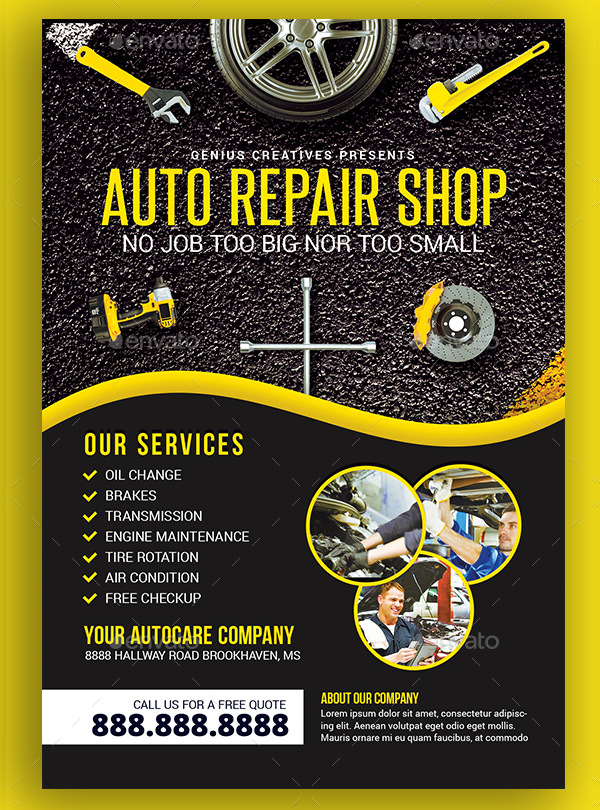20  car repair flyer templates