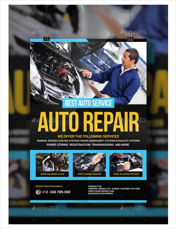 Car Repair Station Flyer