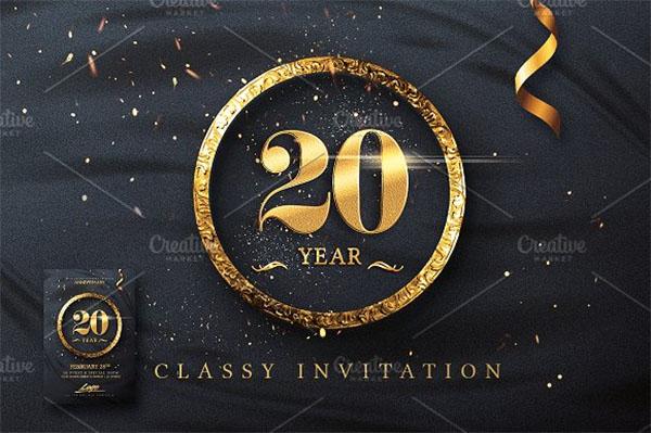Classy Birthday Invitation Design