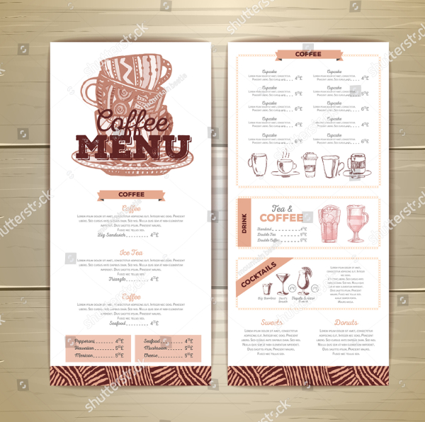 Vintage Coffee Menu Design Template