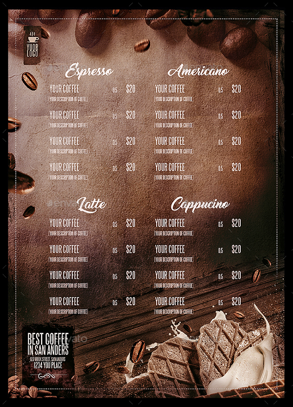 Simple Coffee Menu Template