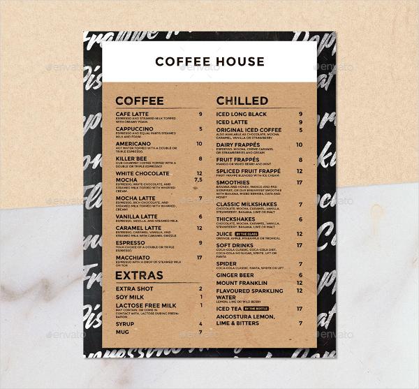 22+ Coffee Menu Templates