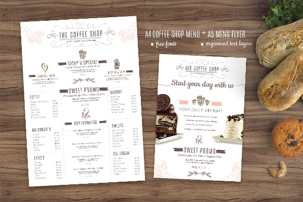 Coffee Menu And Flyer Template