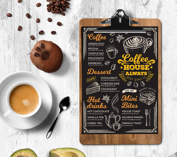 Mini Coffee Menu Template