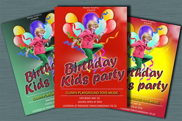 Colorful Birthday Invitation Card Design