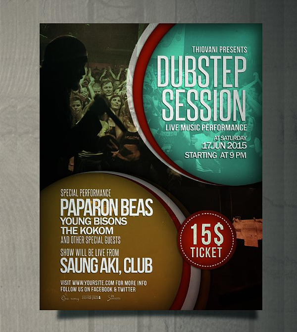 Disco Club Party Poster Template