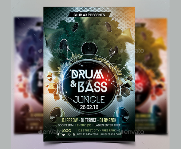 Drum And Bass Jungle Flyer Template