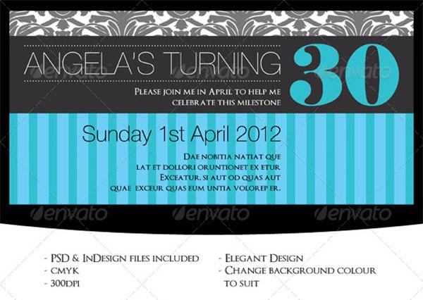 Elegant Birthday Invitation Template