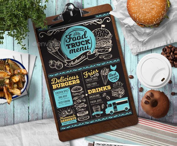 Burger Food Truck Menu Templates