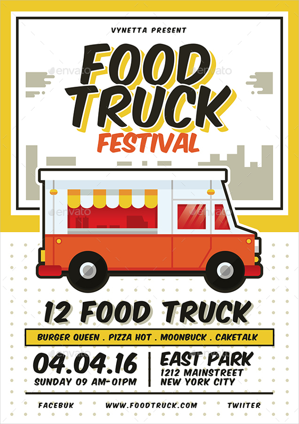 Food Truck Festival Menu Design
