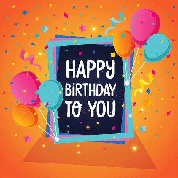 Free Happy Birthday Design Template