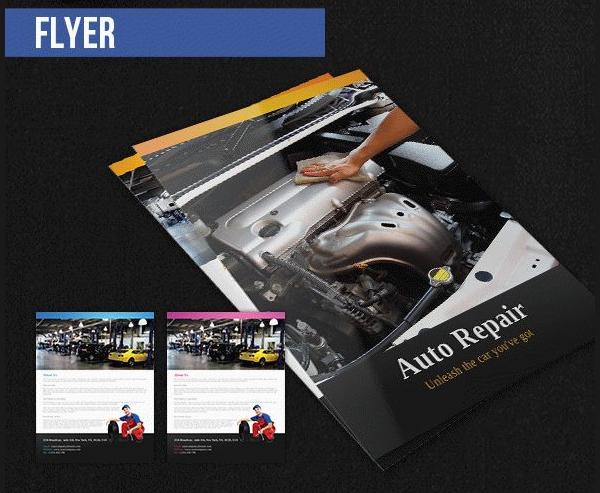 Free PSD Car Repair Flyer Pack