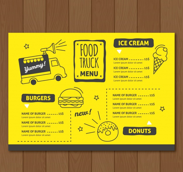 Free Vector Food Truck Design Template