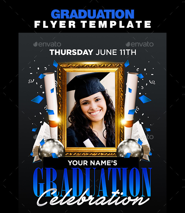 18  graduation flyer templates